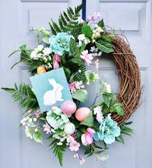easter bunny wreath easter bunny floral grapevine wreath easter wreath bunny wreath
