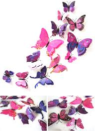 12pcs 7 colors 3d double layer butterfly wall sticker fridge packing includes 1 x 12pcs 3d butterfly wall sticker