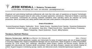 Surgical Tech Resume Objective Resumes 4 Success Resumes For Success