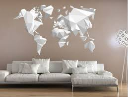 Origami World Map Wall Sticker Decal Origami Decor Origami