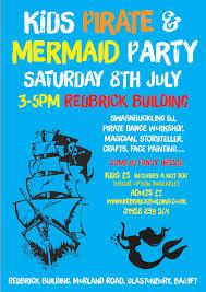 kids pirate u0026 mermaid party u2013 the red brick building
