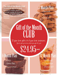 gift of the month club