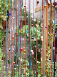 rideau de rideaux perles de verre sur un rideau de fils à 5 euros j ai