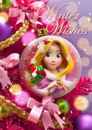 disney rapunzel ornament 3d lenticular greeting card