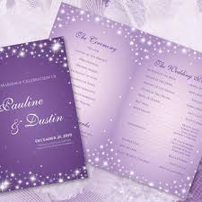 winter wedding programs shop purple wedding programs on wanelo