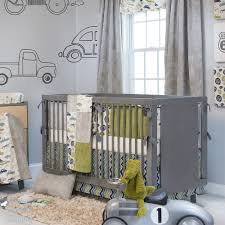 White Curtains Nursery by Minimalist Grey Curtains Nursery Decor For Boy With Grey Bed Frame
