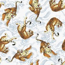 japanese tiger pattern stock illustration illustration of fierce