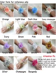 Corsage For Homecoming Aliexpress Com Buy Artificial Silk Rose Wrist Flower Corsage For