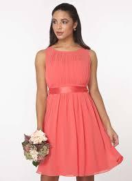showcase coral u0027beth u0027 prom dress dorothy perkins