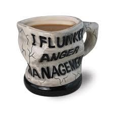 amazon com bigmouth inc anger management ceramic mug white