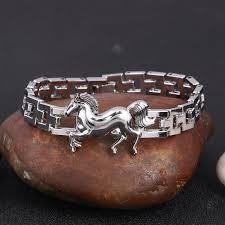 stainless charm bracelet images Punk horse stainless steel charm bracelet myfinebuy jpg