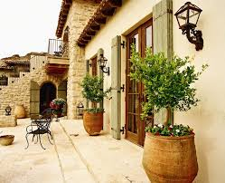 los angeles french door shutters patio traditional with spanish
