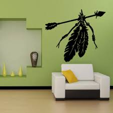 art indian feathers arrows vinyl wall decals home decor living