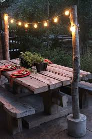 Build Outside Wooden Table by 25 Best Diy Outdoor Furniture Ideas On Pinterest Outdoor