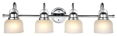 ironclad 4 light vanity fixture chrome and white transitional