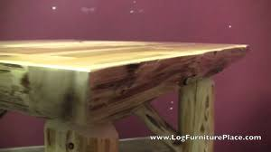 cedar lake square log dining table u0026 log game table youtube