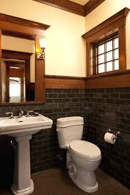 Powder Room With Pedestal Sink Sconce Mission Style Wall Sconces Mission Style Powder Room With