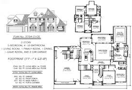 5 bedroom floor plans 2 story 5 bedroom house plans house plans and more house design