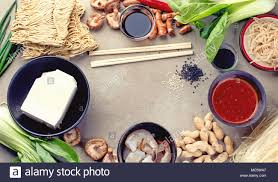 cuisine concept food ingredients top view and cuisine