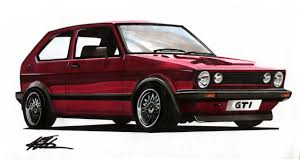 volkswagen drawing realistic car drawing mk1 volkswagen golf gti time lapse youtube