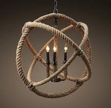 Nautical Rope Chandelier Rope Wrapped Chandelier Nautical Rope Restoration Hardware Rope