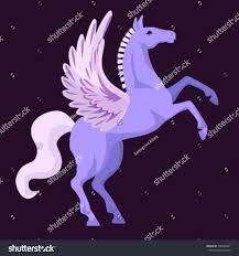 pegasus vector illustration purple on black stock vector 736426381