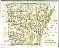 arkansa road map detailed administrative map of arkansas state 1892 vidiani
