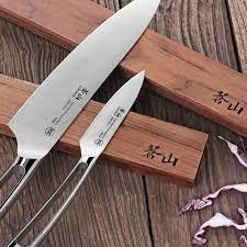 cangshan 61734 walnut wood magnetic knife bar 18 inch cangshan
