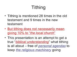 12 what does the bible say about tithing august 2009