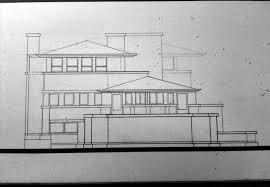 flw robie house elevation study pencil linework oc repost