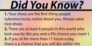 did you 20 amazing facts happy report