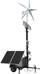 Solar Energy Lighting - optional hybrid solar wind lighting trailer system homestead
