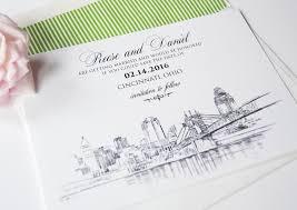 wedding save the date cards cincinnati skyline save the date cards