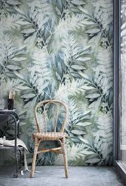 self adhesive removable wallpaper watercolor painted leaves mural self adhesive removable wallpaper