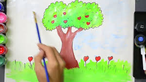tree drawing and coloring tree coloring pages for kids to learn