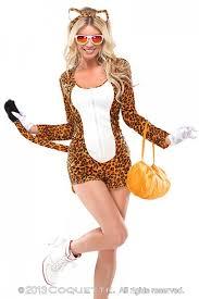 orange white 4pc cheeky cheetah costume amiclubwear costume