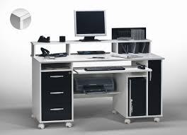 bureau d ordinateur pas cher bureau informatique contemporain blanc noir andria http