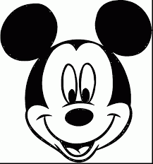 beautiful mickey mouse sketch coloring cartoon