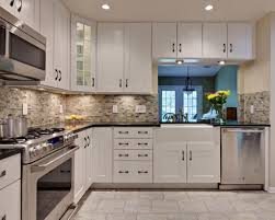 Shaker Style White Kitchen Cabinets by Shaker Style Cabinets White Shaker Kitchen Cabinets Dark Wood