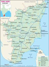 tamil nadu map nadu road map
