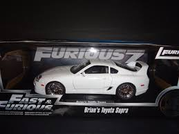 toyota white car fast and furious toyota supra diecast vehicle jada toys white 1 18
