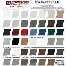 colors u2013 briggs steel