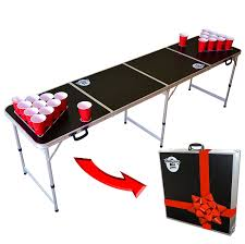 how long is a beer pong table amazon com gopong 8 foot portable folding beer pong flip cup
