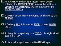 A Flashing Yellow Signal Light Means New Jersey Driver Education Exam Review Ppt Download