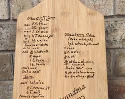 cutting board with recipe engraved recipe cutting board etsy