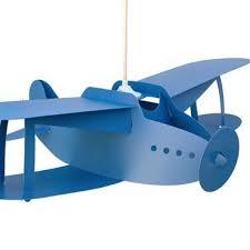 suspension chambre d enfant les design suspension chambre enfants avion bleu