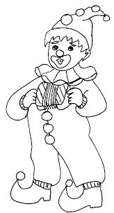 coloriage petit clown enfant tête à modeler