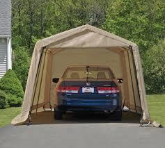 garage portable garage costco metal shed kits lowes carport