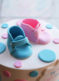 baby booties gender reveal cake whipped bakeshop