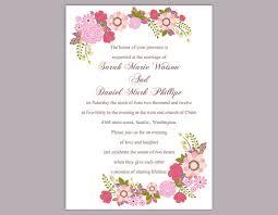 wedding invitation templates word diy wedding invitation template editable word file instant